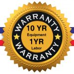 Lawrence Air Conditioning and Heating offers a 10 year Warranty on most equipment and a 1 year Warranty on Labor